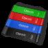 OSTROVIT pasipriešinimo gumos (juoda, mėlyna, žalia, raudona)