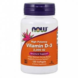 NOW Vitamin D-3 (120 kaps.)