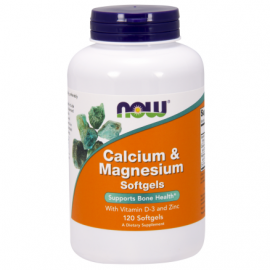 NOW Calcium & Magnesium with Vitamin D and Zinc (120kaps)