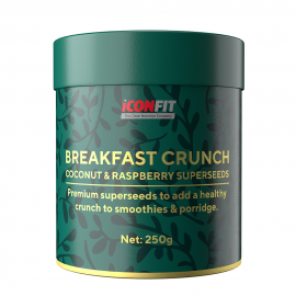 ICONFIT Breakfast Crunch (kokosų-aviečių, 250 g)