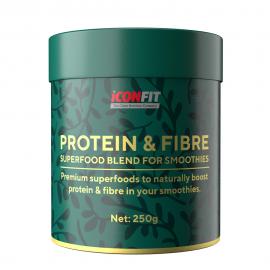 ICONFIT Smoothie Protein & Fibre (neapdorota kakava, 250 g)