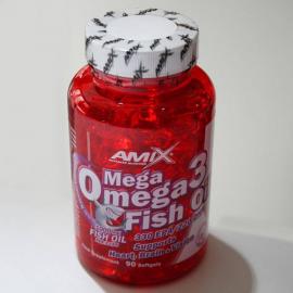 Amix Mega Omega Fish Oil 90 kapsulių